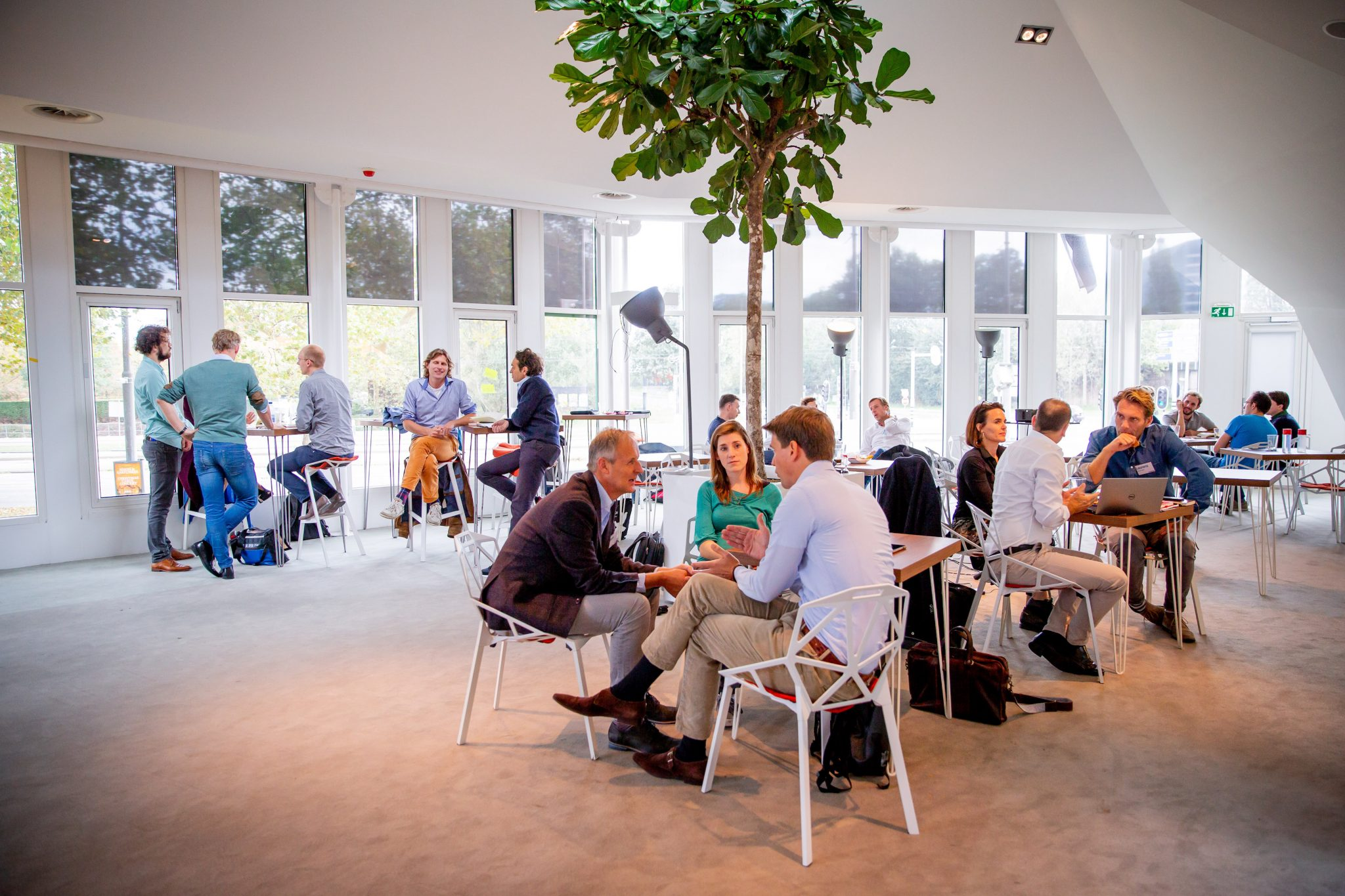 Startup founders meet in Amsterdam
