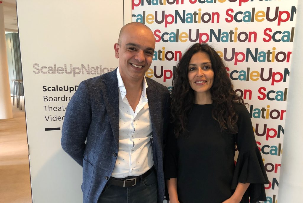 Samir Saberi, commercial director at scaleupnation, and Hayat, practice director at scaleupnation