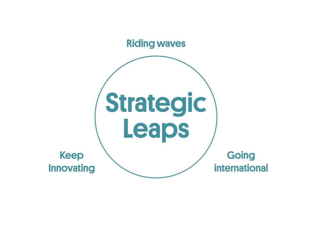 Strategic leaps is one of the 5 pillars of the scaling success factors