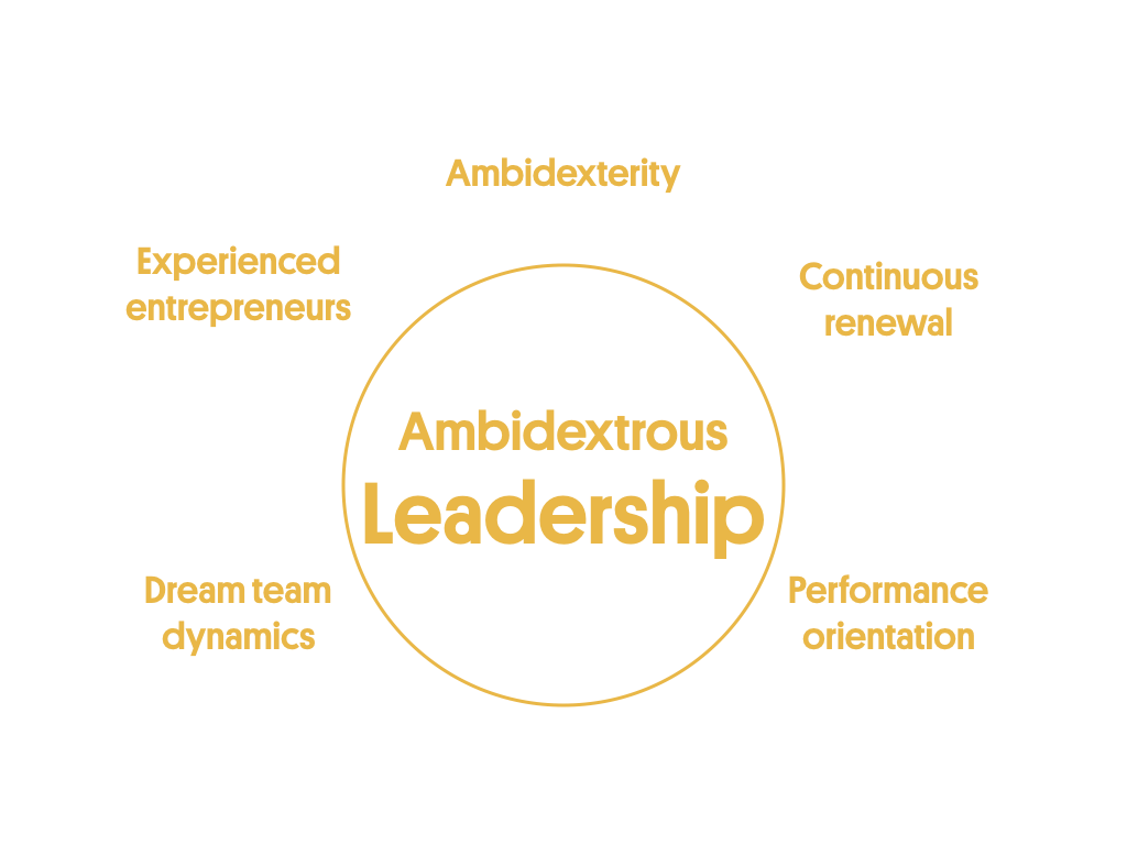 Ambidextrous Leadership is one of the 5 pillars of the scaling success factors
