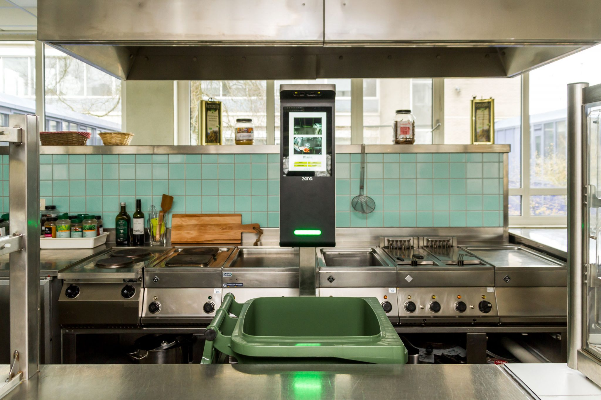 Orbisk monitor is working in a canteen and by analyzing food waste