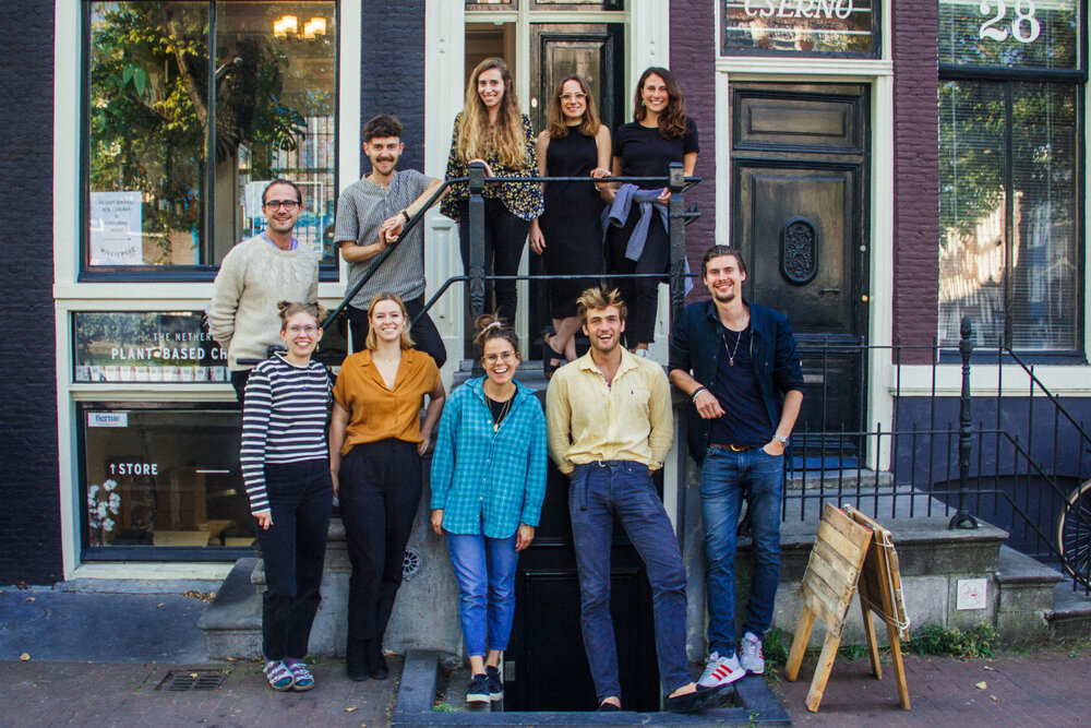 The Willicroft team in front of the Amsterdam store